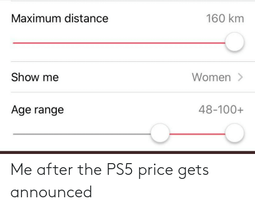 After: Me after the PS5 price gets announced