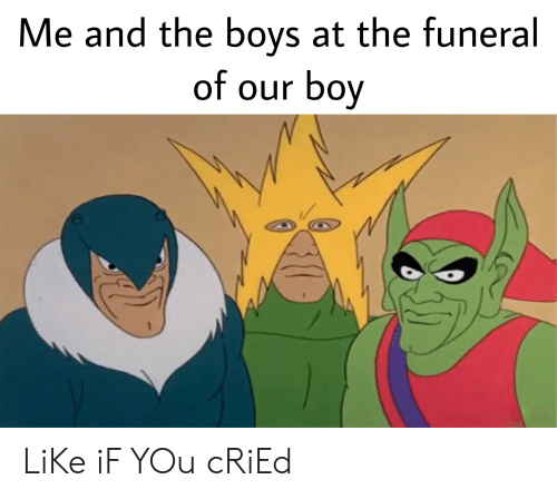 Reddit, Boy, and Boys: Me and the boys at the funeral  of our boy  AA LiKe iF YOu cRiEd