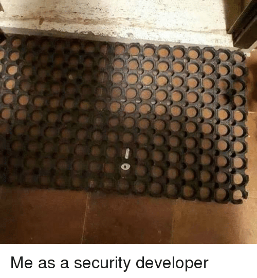 Security, Developer, and Me As: Me as a security developer