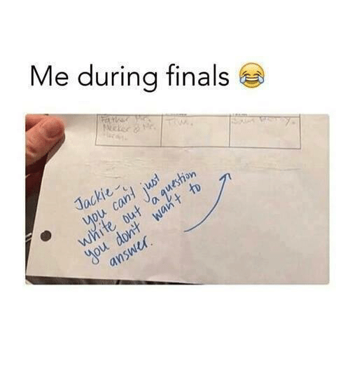 Finals, Memes, and 🤖: Me during finals