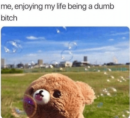 Bitch, Dumb, and Life: me, enjoying my life being a dumb  bitch