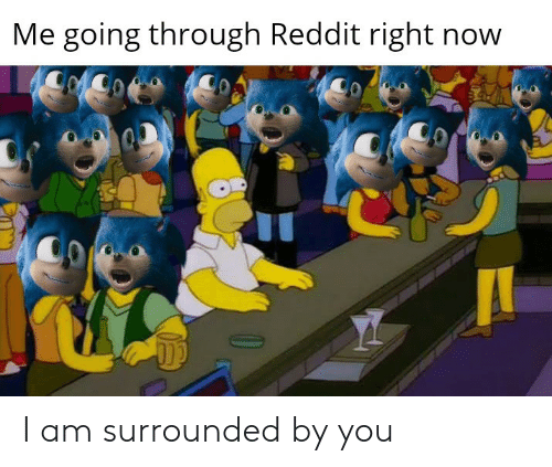 surrounded: Me going through Reddit right now I am surrounded by you
