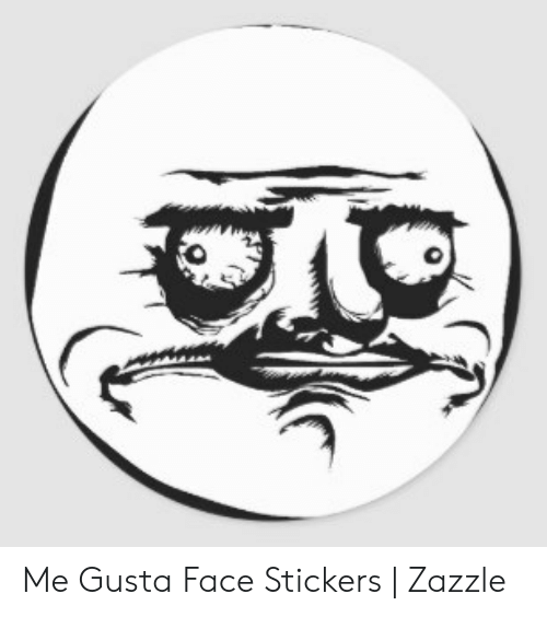 Me Gusta, Face, and Gusta: Me Gusta Face Stickers   Zazzle