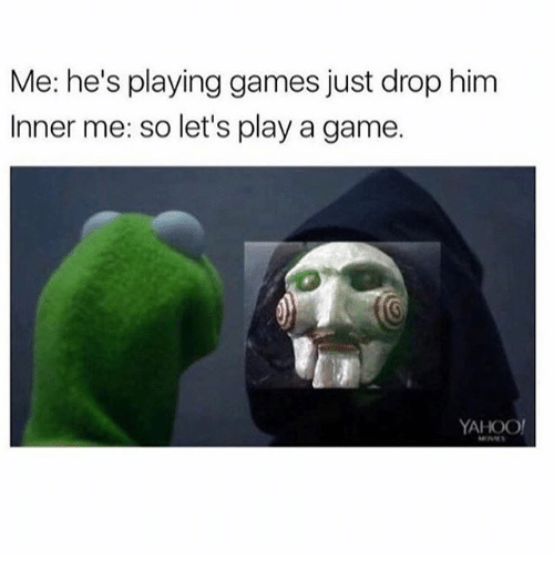 Game, Games, and Yahoo: Me: he's playing games just drop him  Inner me: so let's play a game.  YAHOO