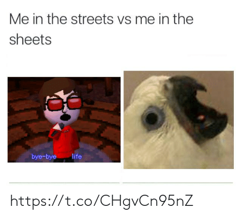 Life, Streets, and The Streets: Me in the streets vs me in the  sheets  bye-bye  life https://t.co/CHgvCn95nZ