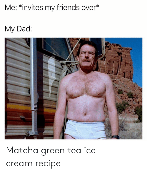 Dad, Friends, and Ice Cream: Me: *invites my friends over*  My Dad: Matcha green tea ice cream recipe
