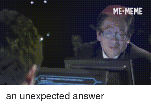 Meme, World Cup, and World: ME-MEME an unexpected answer