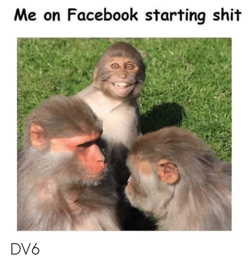 Facebook, Memes, and 🤖: Me on Facebook starting shi-t DV6