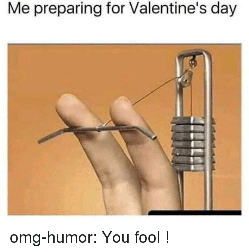 Omg, Tumblr, and Valentine's Day: Me preparing for Valentine's day omg-humor:  You fool !