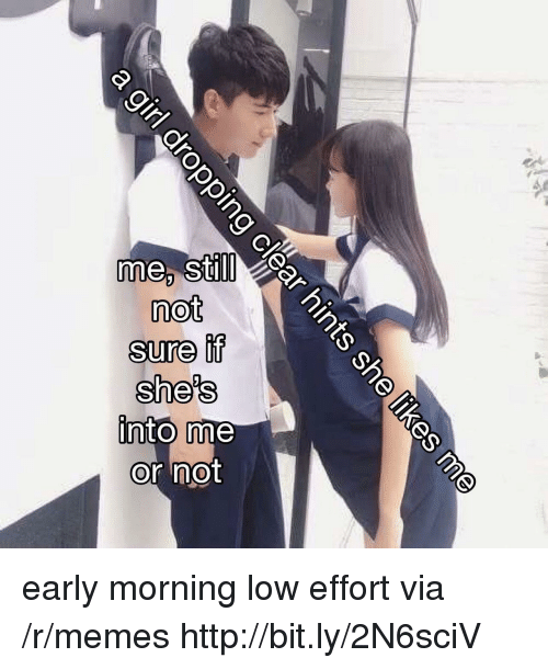 Memes, Http, and Sti: me, sti  not  Sure it  she's  ll  or not early morning low effort via /r/memes http://bit.ly/2N6sciV