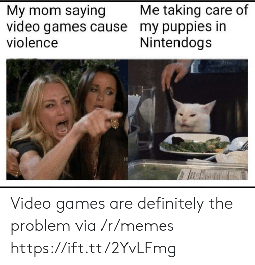nintendogs: Me taking care of  My mom saying  video games cause my puppies in  violence  Nintendogs Video games are definitely the problem via /r/memes https://ift.tt/2YvLFmg