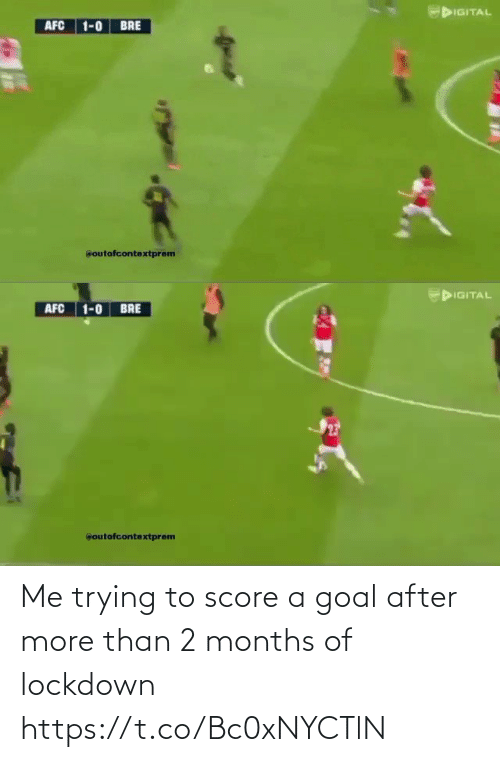 Goal: Me trying to score a goal after more than 2 months of lockdown  https://t.co/Bc0xNYCTlN