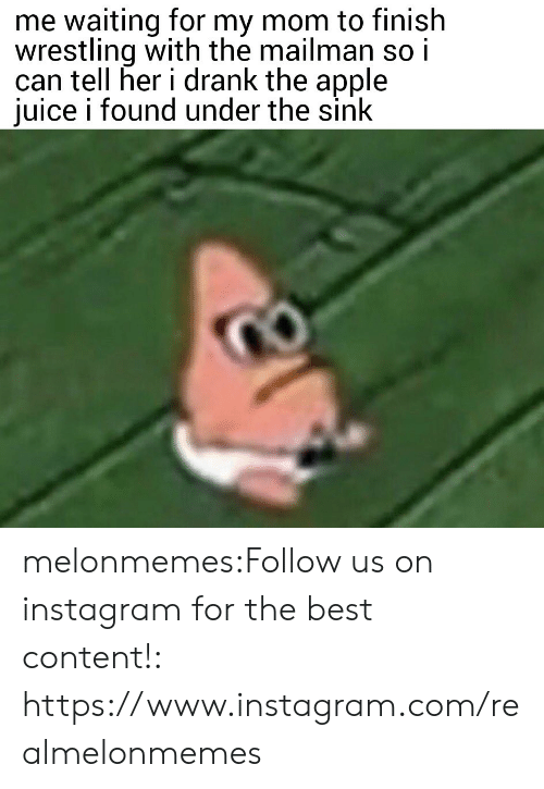 Wrestling: me waiting for my mom to finish  wrestling with the mailman so i  can tell her i drank the apple  juice i found under the sink melonmemes:Follow us on instagram for the best content!: https://www.instagram.com/realmelonmemes