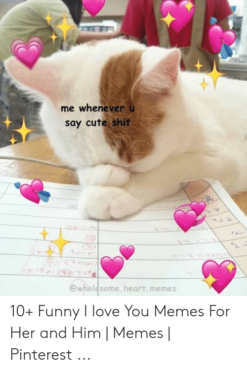 Heart Memes: me whenever u  say cute shit  @wholesome.heart.memes 10+ Funny I love You Memes For Her and Him | Memes | Pinterest ...
