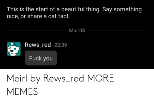 red: Meirl by Rews_red MORE MEMES