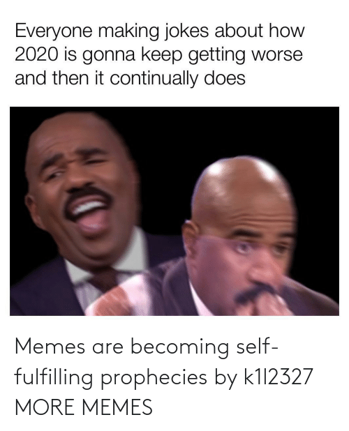 Memes Are: Memes are becoming self-fulfilling prophecies by k1l2327 MORE MEMES