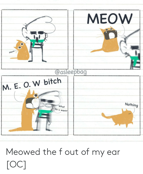 Of My: Meowed the f out of my ear [OC]