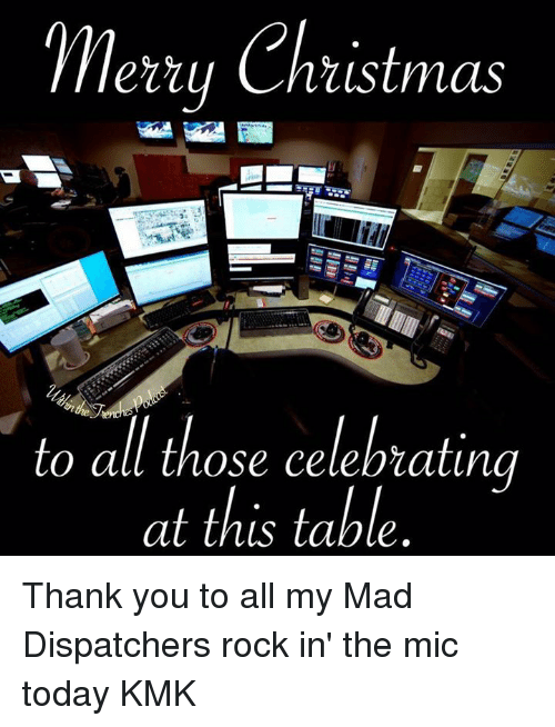 Merry Christmas To All Those Celebrating At This Table Thank You To