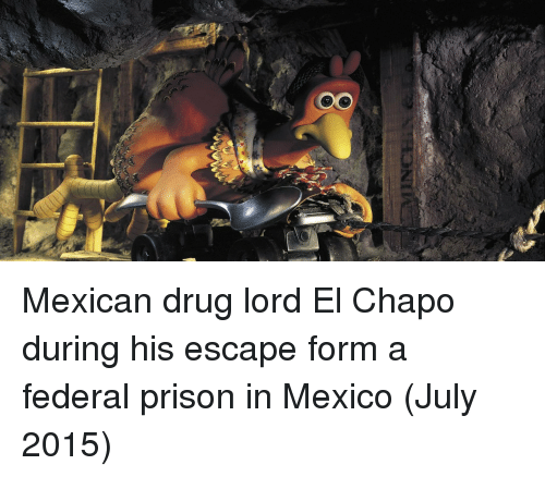 Chapo: Mexican drug lord El Chapo during his escape form a federal prison in Mexico (July 2015)