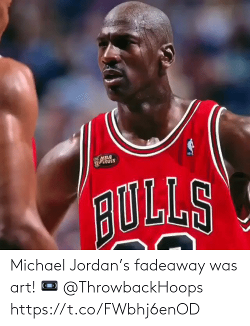 Michael: Michael Jordan's fadeaway was art!   📼 @ThrowbackHoops   https://t.co/FWbhj6enOD