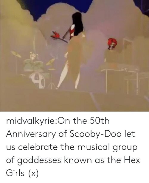 Girls, Scooby Doo, and Tumblr: midvalkyrie:On the 50th Anniversary of Scooby-Doo let us celebrate the musical group of goddesses known as the Hex Girls (x)