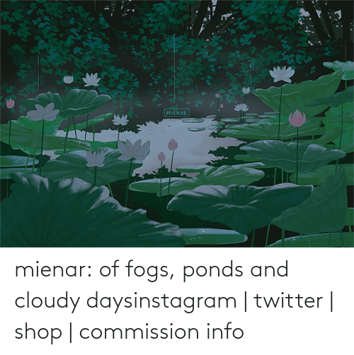 Commission: mienar:  of fogs, ponds and cloudy daysinstagram   twitter   shop   commission info