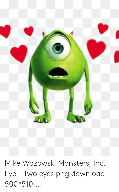Mike Wazowski Monsters Inc Eye - Two Eyes Png Download - 500*510