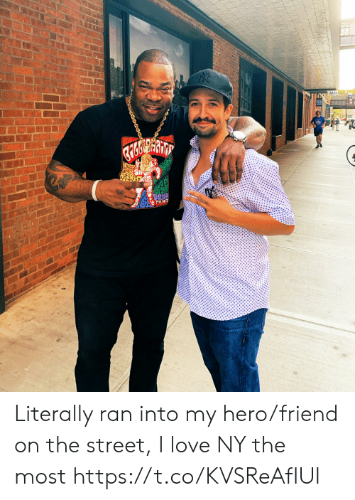 Love, Memes, and My Hero: Milk  HBarp Literally ran into my hero/friend on the street, I love NY the most https://t.co/KVSReAfIUI