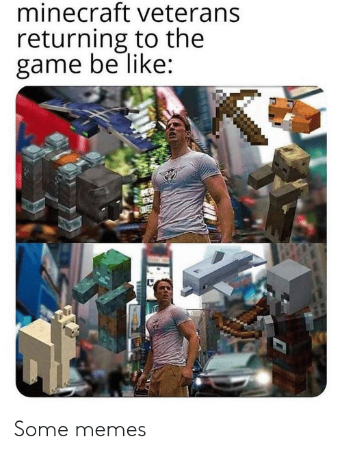 Some Memes: minecraft veterans  returning to the  game be like: Some memes