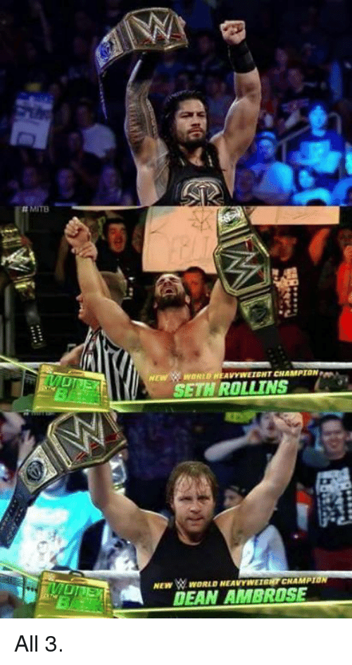 World Wrestling Entertainment, Seth Rollins, and World: MITB  SETH ROLLINS  NEW WORLD NEAVYNWETENTENAMPIDA All 3.