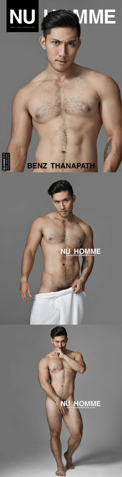 issue: MME  NU  ISSUE 1 NO.11 MARCH 2016  BENZ THANAPATH  NU HOMME HB 120  ISSN 2408-2228  www.nuhommebook.com   NU HOMME  www.nuhommebook.com   NU HOMME  www.nuhommebook.com