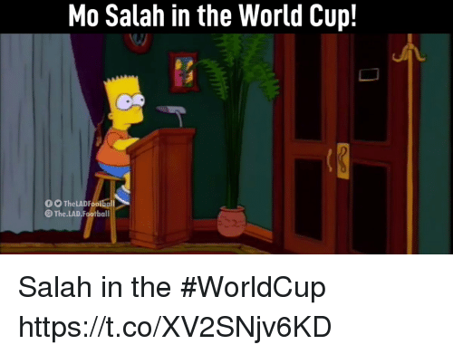 Football, Memes, and World Cup: Mo Salah in the World Cup!  0 0 TheLAD Fooiball  The.LAD.Football Salah in the #WorldCup  https://t.co/XV2SNjv6KD