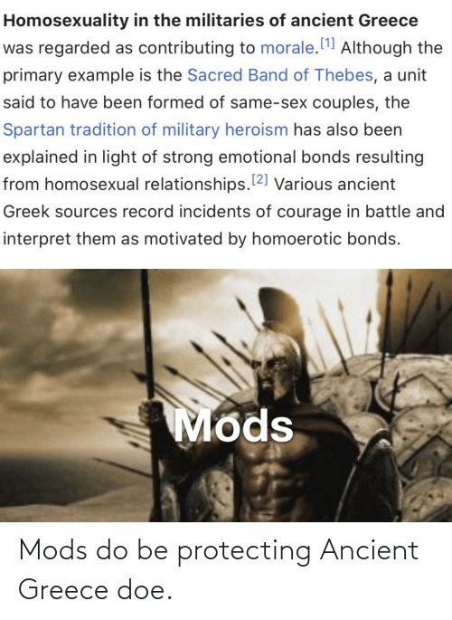 ancient greece: Mods do be protecting Ancient Greece doe.