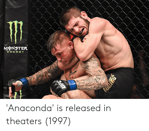 Anaconda, Energy, and Monster: MONSTER  ENERGY 'Anaconda' is released in theaters (1997)