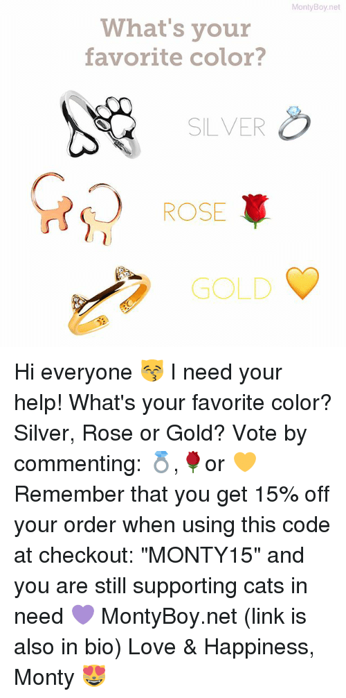 Montyboynet What 39 S Your Favorite Color Silver Rose Gold