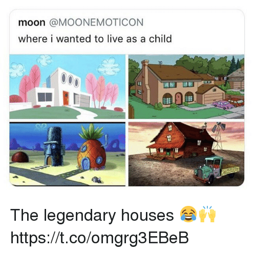 Live, Moon, and Wanted: moon @MOONEMOTICON  where i wanted to live as a child The legendary houses 😂🙌 https://t.co/omgrg3EBeB