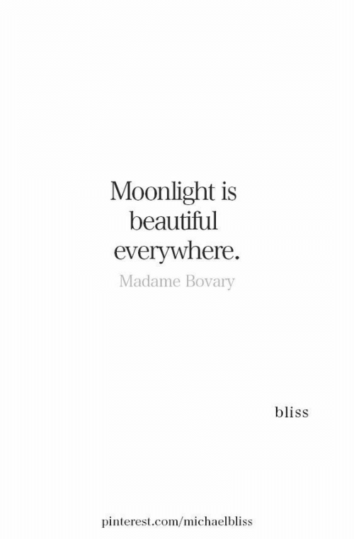 Beautiful, Pinterest, and pinterest.com: Moonlight is  beautiful  everywhere.  Madame Bovary  bliss  pinterest.com/michaelbliss