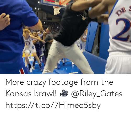 crazy: More crazy footage from the Kansas brawl!   🎥 @Riley_Gates https://t.co/7Hlmeo5sby