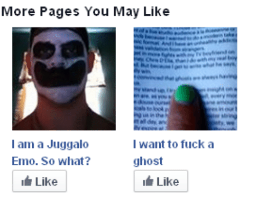 Emo, Ghost, and Juggalo: More Pages You May Like  l am a Juggalo  Emo. So what?  Like  I want to fucka  ghost  Like