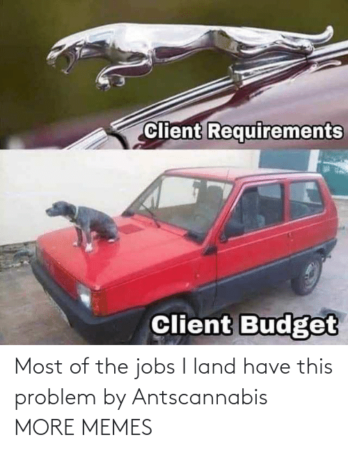 Today: Most of the jobs I land have this problem by Antscannabis MORE MEMES