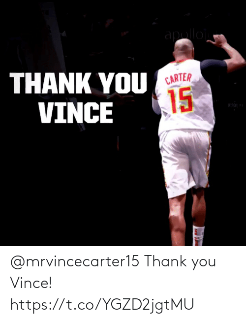 Thank You: @mrvincecarter15 Thank you Vince!  https://t.co/YGZD2jgtMU