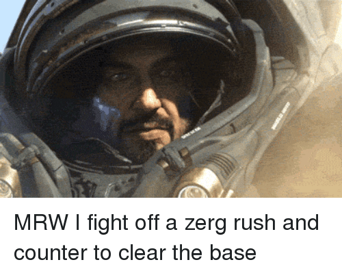 zerg rush: MRW I fight off a zerg rush and counter to clear the base