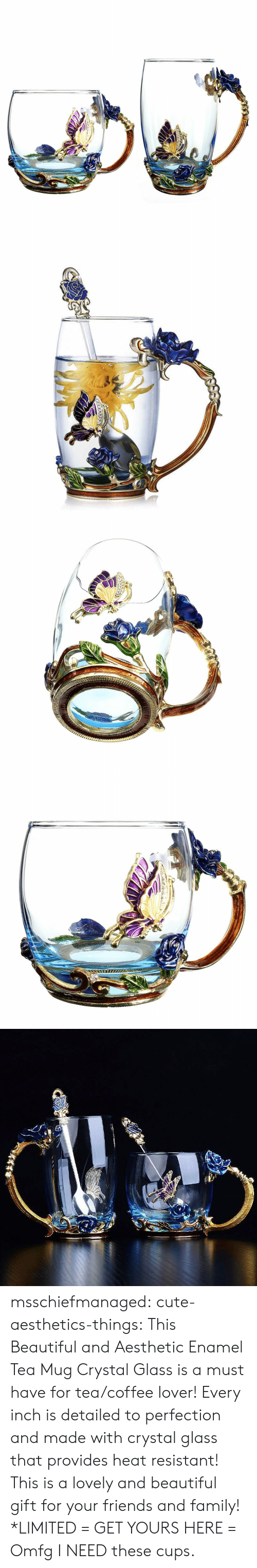 Beautiful, Cute, and Family: msschiefmanaged: cute-aesthetics-things:  This Beautiful and AestheticEnamel Tea Mug Crystal Glass is a must have for tea/coffee lover! Every inch is detailed to perfection and made with crystal glass that provides heat resistant! This is a lovely and beautiful gift for your friends and family! *LIMITED = GET YOURS HERE =   Omfg I NEED these cups.