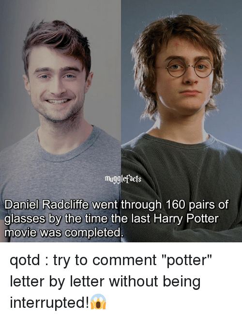 Mugglefacts Daniel Radcliffe Went Through 160 Pairs of ... Daniel Radcliffe Instagram
