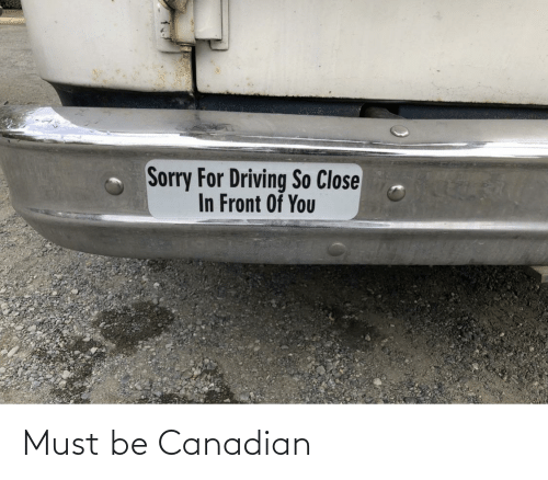 Canadian: Must be Canadian