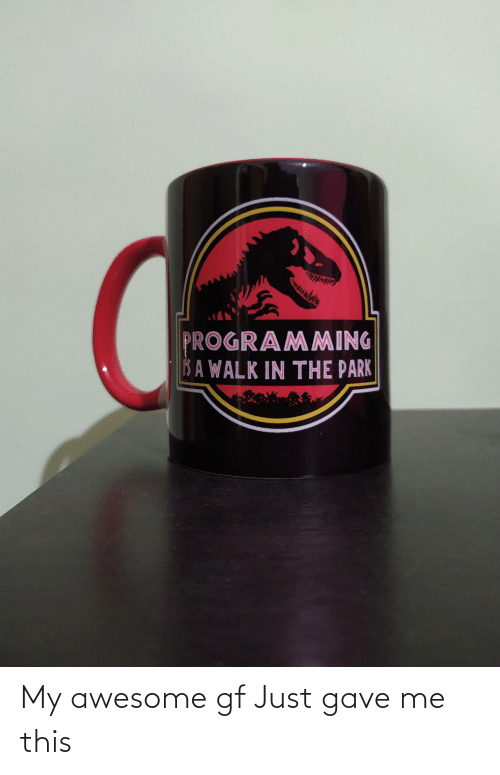 Gf: My awesome gf Just gave me this