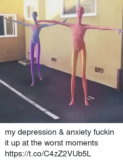 The Worst, Anxiety, and Depression: my depression & anxiety fuckin it up at the worst moments https://t.co/C4zZ2VUb5L