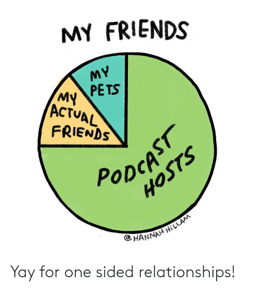 Friends, Memes, and Relationships: MY FRIENDS  PETS  ACTUAL  FRIENDS  CP  PoDctS  HANNA Yay for one sided relationships!