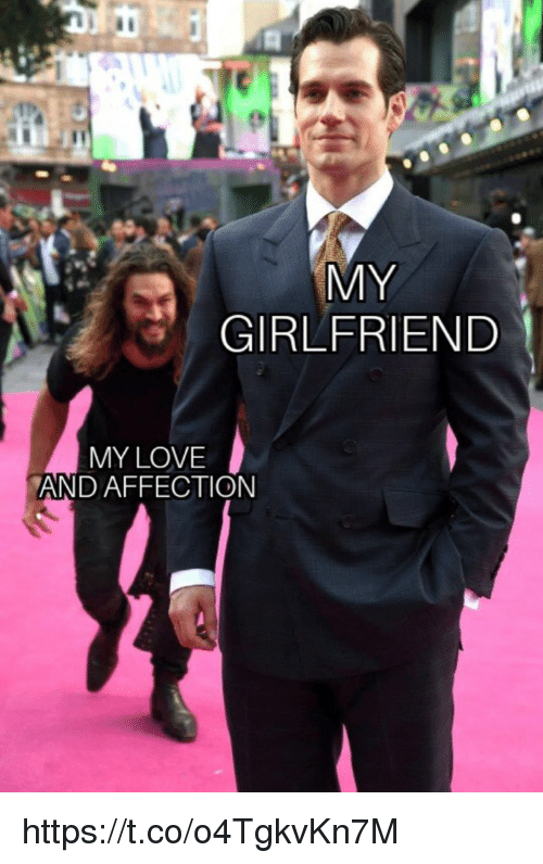 Love, Memes, and Girlfriend: MY  GIRLFRIEND  MY LOVE  AND AFFECTION https://t.co/o4TgkvKn7M