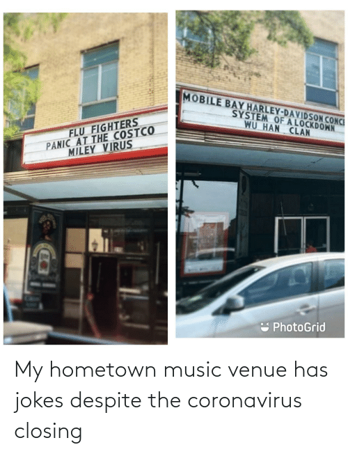 Coronavirus: My hometown music venue has jokes despite the coronavirus closing
